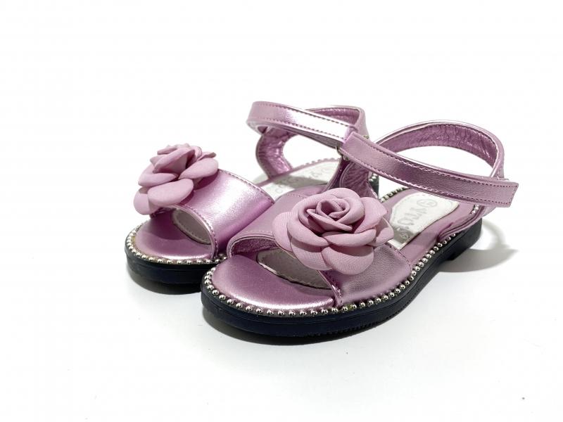 Босоножки для девочек Невероятные розочки пурпур