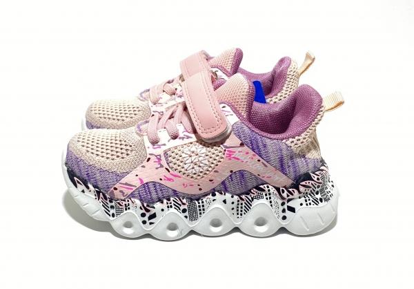Кроссовки для девочек легкость розовые