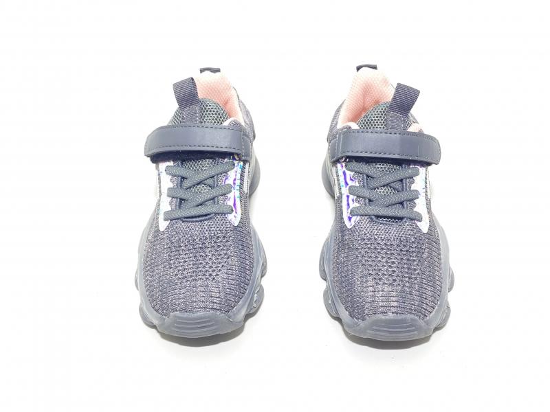 Кроссовки Fashion 7 светодиоды серые