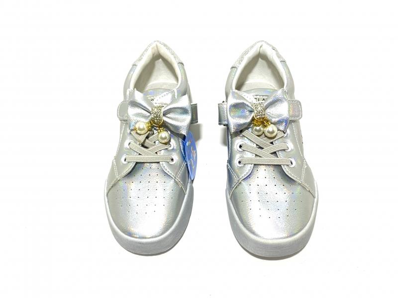 Кроссовки дышащие серебро