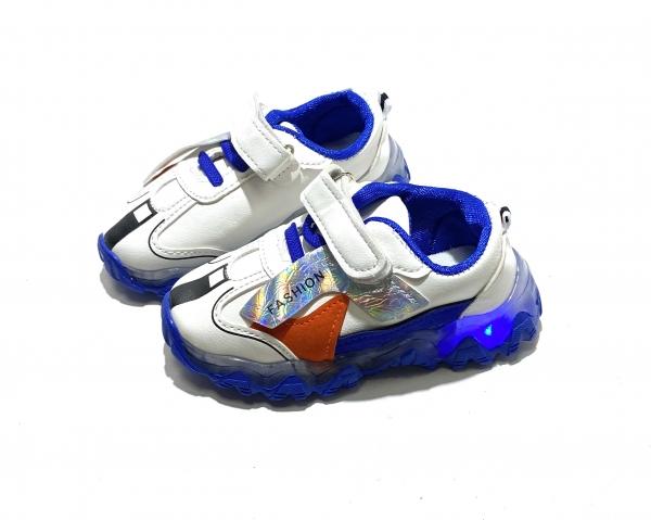 Кроссовки детские синие диоды