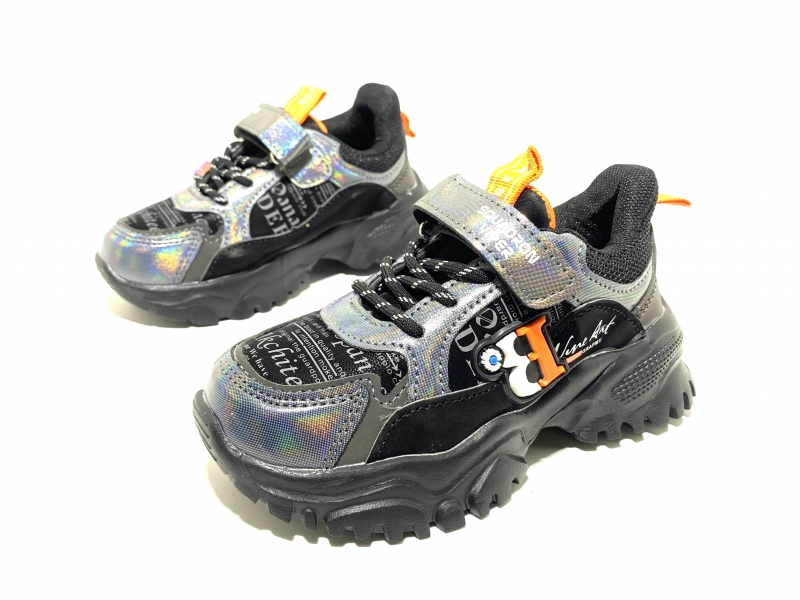 Кроссовки для мальчиков чёрная голограмма