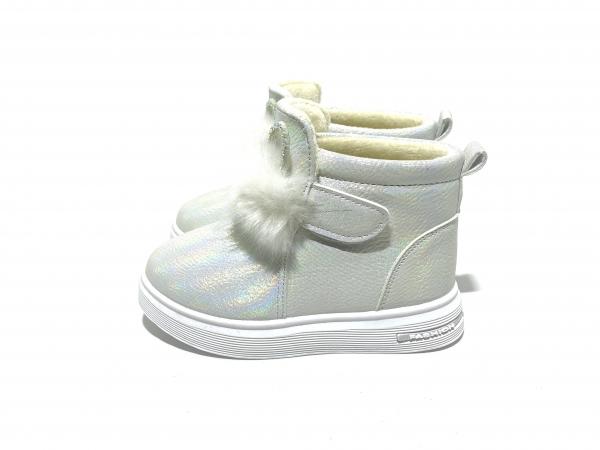 Ботинки пушистые зайцы