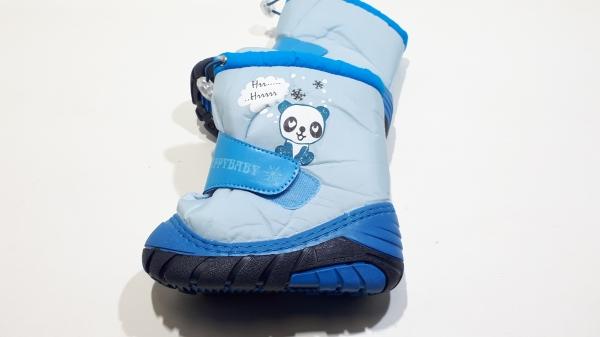 Сноубутсы для самых маленьких Панда синие