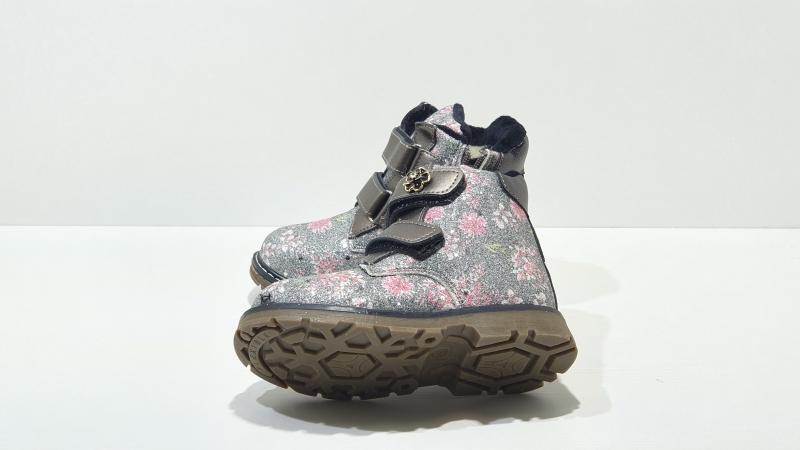 Зимние ботиночки для девочек Серебристые цветочки