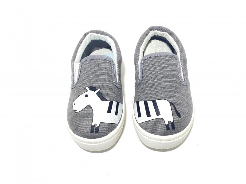 Слипоны серые Zebra