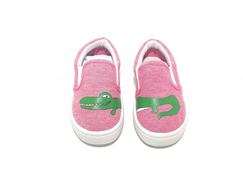 Слипоны розовые Сrocodile