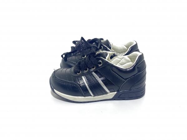 Туфли чёрные комбинированные