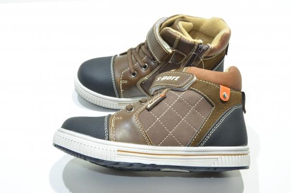 Детские ботинки для мальчиков S-port коричневые