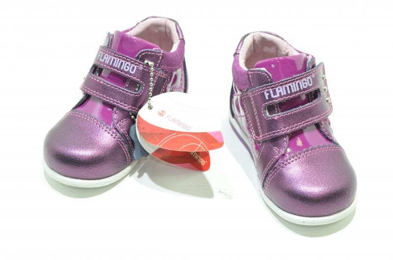 Детские полуботинки для девочек Фламинго