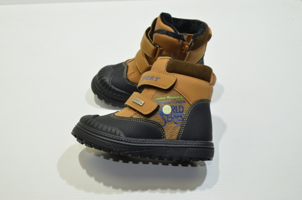 Зимние ботинки для детей Резиновый носик