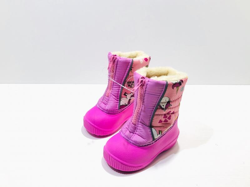 Зимние дутики для девочек Единорожки