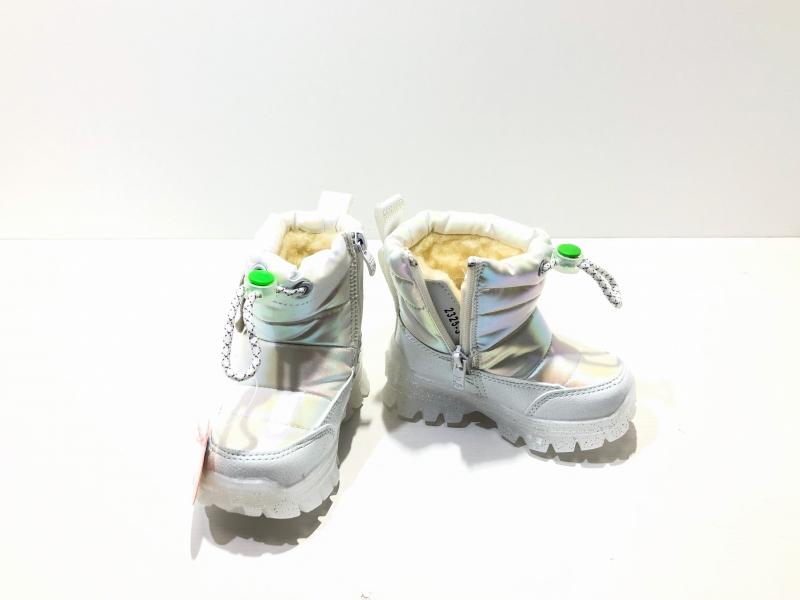 Зимние утепленные ботинки для детей Fashion Диоды (перламутр)
