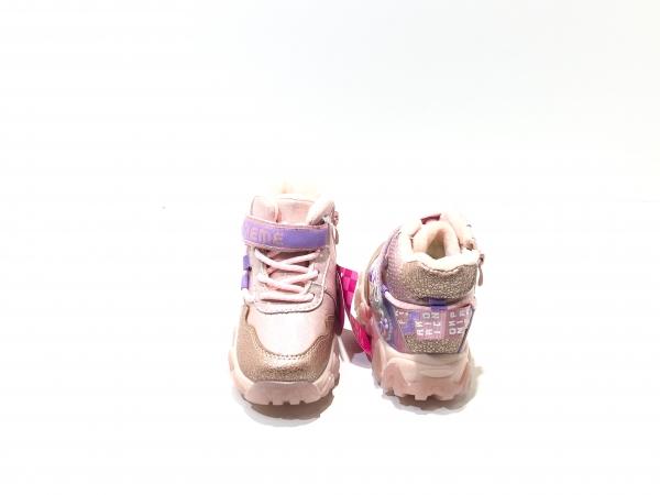Зимние утепленные кроссовки для девочек Supreme (розовый)