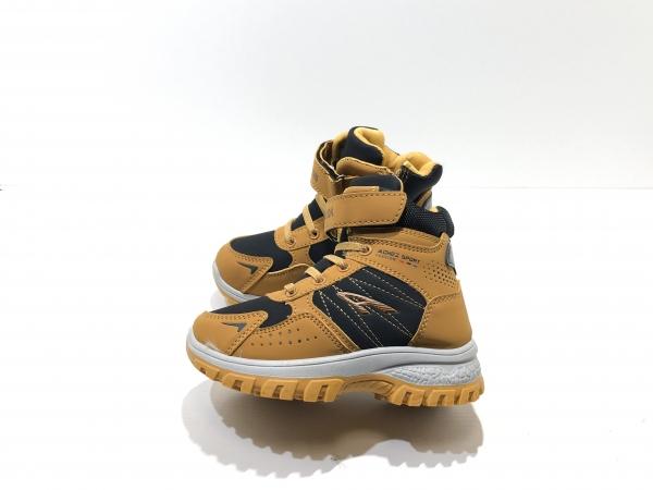 Зимние детские утепленные кроссовки Черная горчица