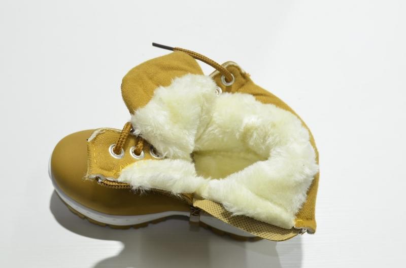 Ботинки зимние высокие горчичные