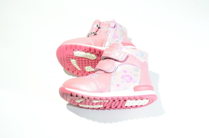 Ботинки розовые для девочек
