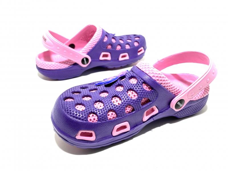 Детские Кроксы Мифёр Фиолетово-розовые