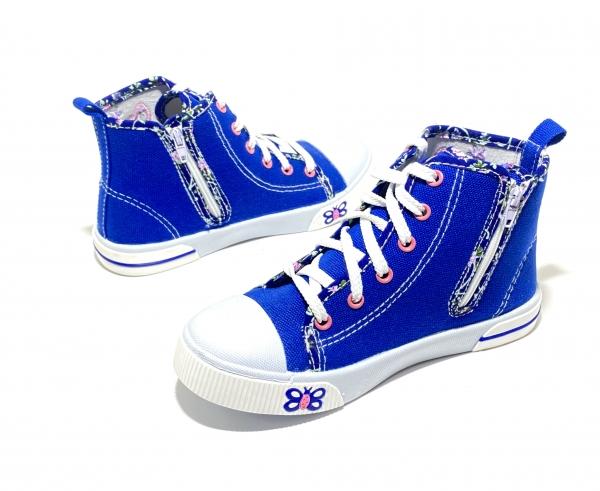 Кеды синие на шнуровке