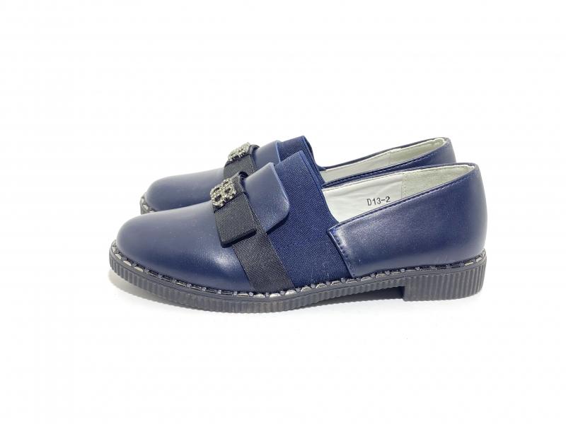 Туфли для девочек Школьная классика синие