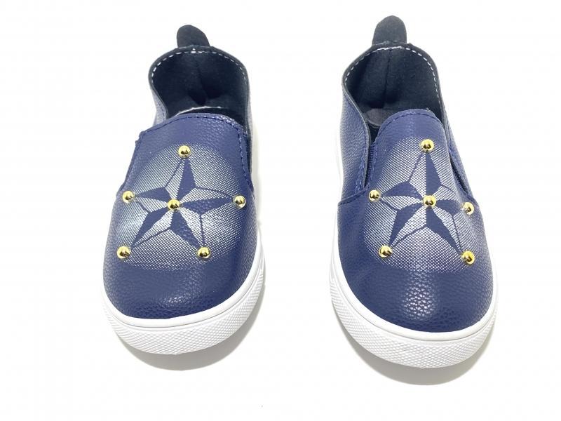 Детские Мокасины Звёзды синие