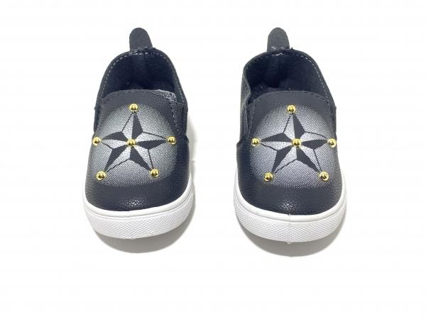 Детские Мокасины Звёзды чёрные