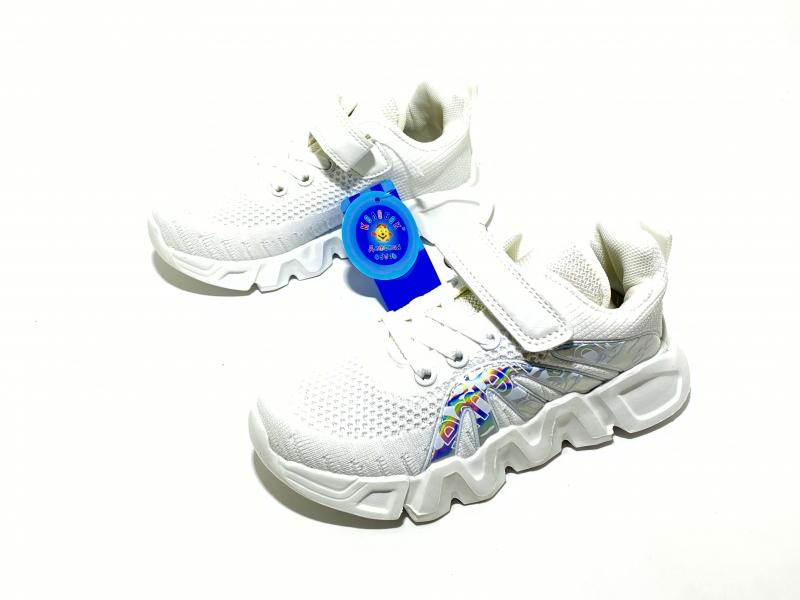 Кроссовки для девочек голограмма белые