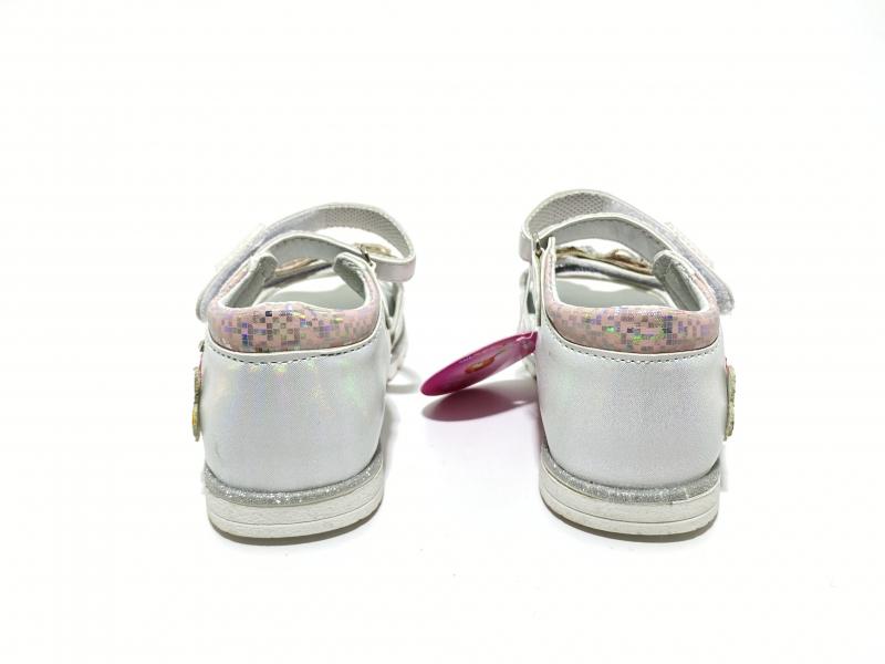 Босоножки блестящая бабочка розовые