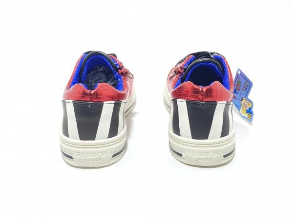 Детские кроссовки комбинированные металлик