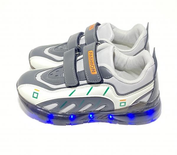 Кроссовки с USB серые