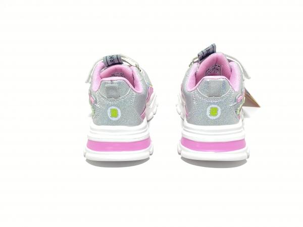 Кроссовки для девочек Мичи серебро